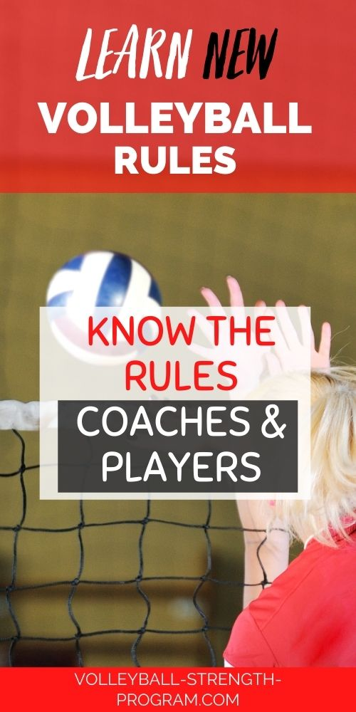 New rules of volleyball