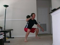 Kettlebell Squats for Volleyball