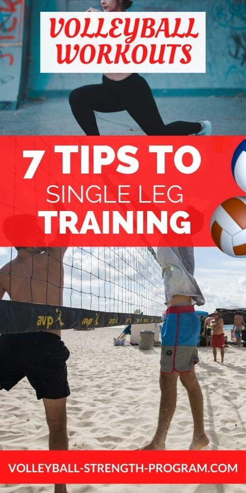 Single Leg Volleyball Training